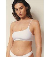 josefine hj x na-kd recycled bikinitopp med en axel - white