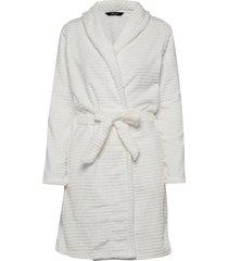 decoy short robe w/stripes morgonrock vit decoy