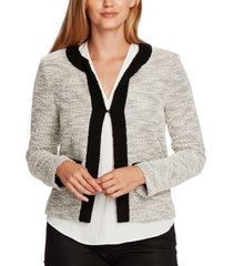 vince camuto eyelash tweed kiss-front jacket