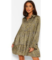 button down smock dress, olive