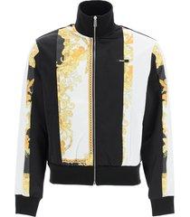 versace full zip sweatshirt with baroque print