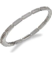 adriana orsini women's white rhodium-plated & cubic zirconia bracelet