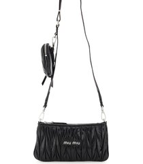 miu miu quilted mini bag with pouch