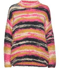 knit in multi color w. volume gebreide trui multi/patroon coster copenhagen