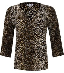 blusa prense animal print color negro, talla m