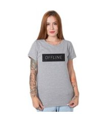 camiseta  stoned offline cinza