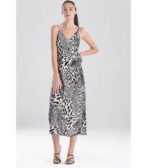 natori jaguar gown pajamas / sleepwear / loungewear, women's, black, size m natori
