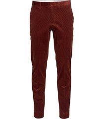 d1. slim cord slack casual byxor vardsgsbyxor röd gant
