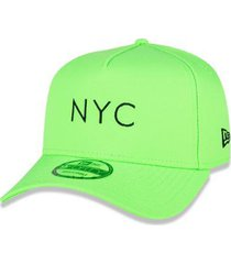 boné new era 9forty aframe simple signature fluor nyc aba curva