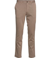 chaze-flannel twill kostymbyxor formella byxor beige j. lindeberg