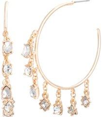 steve madden charms open hoop earring