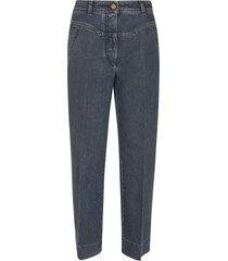 alberta ferretti stitch detail straight leg jeans