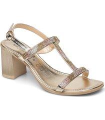 high heel sandals sandal med klack guld ilse jacobsen