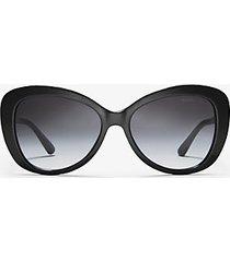 mk occhiali da sole positano - nero (nero) - michael kors