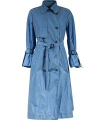 aspesi double-breasted long belted trench