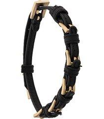 coup de coeur buckle bracelet - black