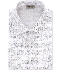 kenneth cole reaction men's extra-slim fit non-iron ice lilac print dress shirt