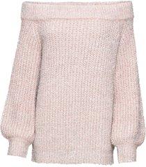 maglione in lurex con scollo a barca (rosa) - bodyflirt