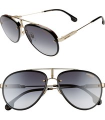 men's carrera eyewear glory 58mm aviator sunglasses - gold black