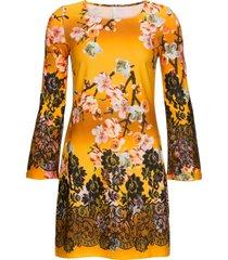 abito in maglina a fiori (oro) - bodyflirt boutique