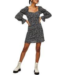 women's topshop mesh tea dress