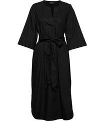 slfcarlotta 3/4 midi kaftan dress b jurk knielengte zwart selected femme