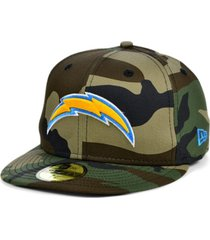 new era los angeles chargers woodland 59fifty cap