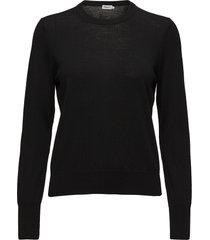 merino r-neck sweater gebreide trui zwart filippa k