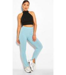 split leg jumbo rib high waist leggings, sage
