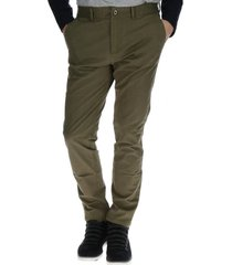 pantalon hombre slim stretch chino verde cat