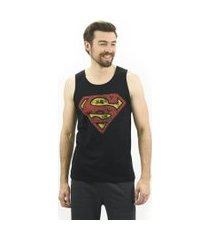 regata masculina superman emporio alex malha preto