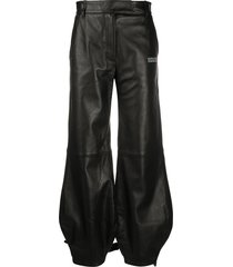 off-white tie-up cuffs tapered trousers - black