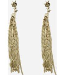 saint laurent loulou earrings with brass tassels