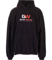 balenciaga balenciaga logo print hoodie