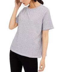 eileen fisher cotton striped t-shirt