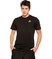 camiseta negro-blanco adidas performance dooble emblem
