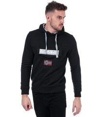 napapijri mens burgee sweatshirt size s in black