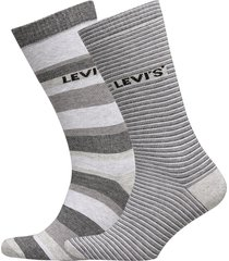 levis regular cut stripe story 2p underwear socks regular socks grå levi´s