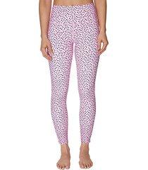high-rise polka dot active leggings