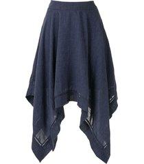 olympiah violette midi skirt - blue