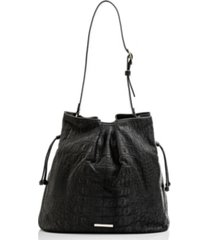 brahmin medium harlow black bergen shoulder bag