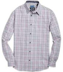 joe joseph abboud repreve® mauve & green fine plaid sport shirt