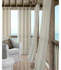 """elrene bali sheer 52"""" x 84"""" indoor/outdoor curtain panel with tieback"""