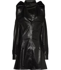 y/project layered a-line dress - black