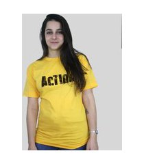 camiseta action clothing sign amarela