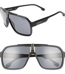 men's carrera eyewear 64mm navigator sunglasses - matte black