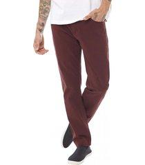 pantalon bolsillos slim rojo corona