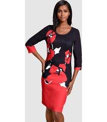 jurk alba moda zwart::rood