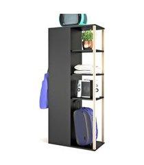 aparador/buffet/bar e armario multiuso e estilare móveis preto