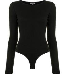 agolde leila jersey bodysuit - black